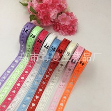 Double Heart Ribbon 2.2cm Wide (Big Two Careful) Craft Edging Belt Classic Clothing Home Decoration Accessories Poly