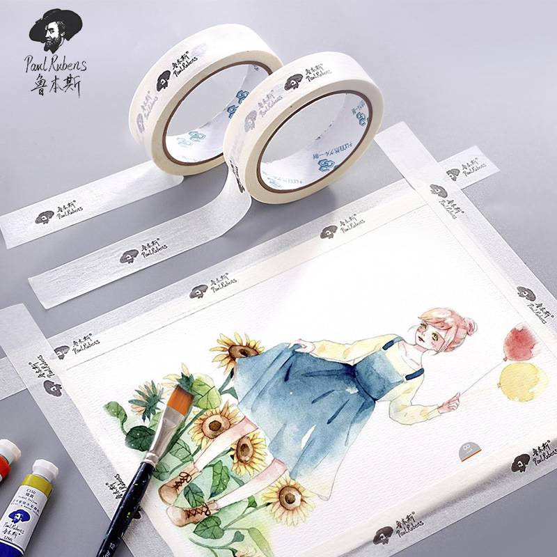 Paul Rubens 1pc 2.5cm *2m Professional Sketch Gouache Watercolor Masking Tape Decorative Adhesive Tapes School Art Set Supplies image