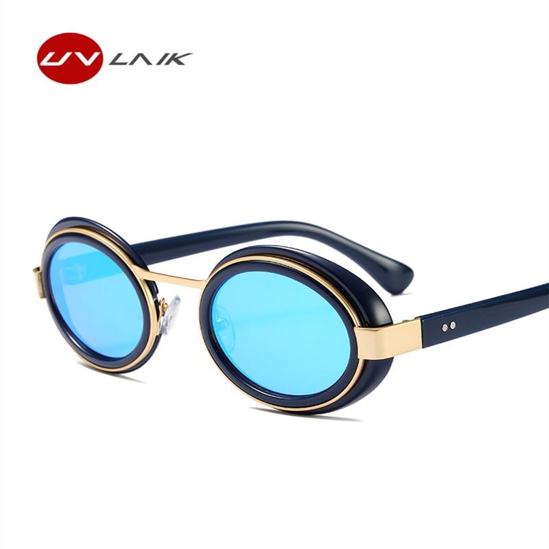 efe9d3ee10527 UVLAIK Marca Mulheres Óculos De Sol Óculos Redondos Do Vintage Design  Elegante Fêmea Retro Sexy Influência