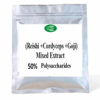 500gram (Cordyceps + Reishi + Goji ) Mixed Extract 50% Polysaccharides Powder free shipping - DISCOUNT ITEM  15% OFF All Category