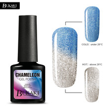 BUKAKI 1pcs Colors Temperature Change Nail Gel Polish UV LED Thermal Mood Changing Chameleon Gel Varnish Painting Gule