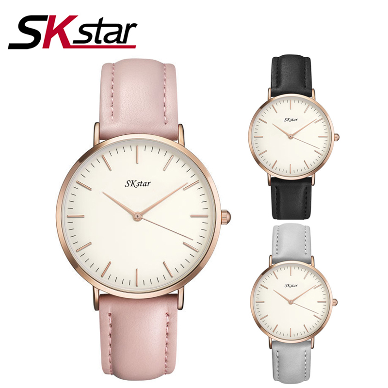 SKstar Quartz Watch Women Watches Brand Luxury 2017 Female Clock Wrist Watch Lady Quartz watch Montre