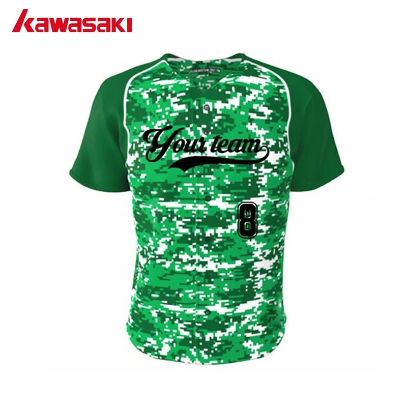 kawasaki custom camouflage baseball jersey men women