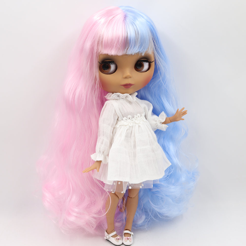 joints body mix long hair sale Blythe Nude Doll from Factory Matte Skin Face
