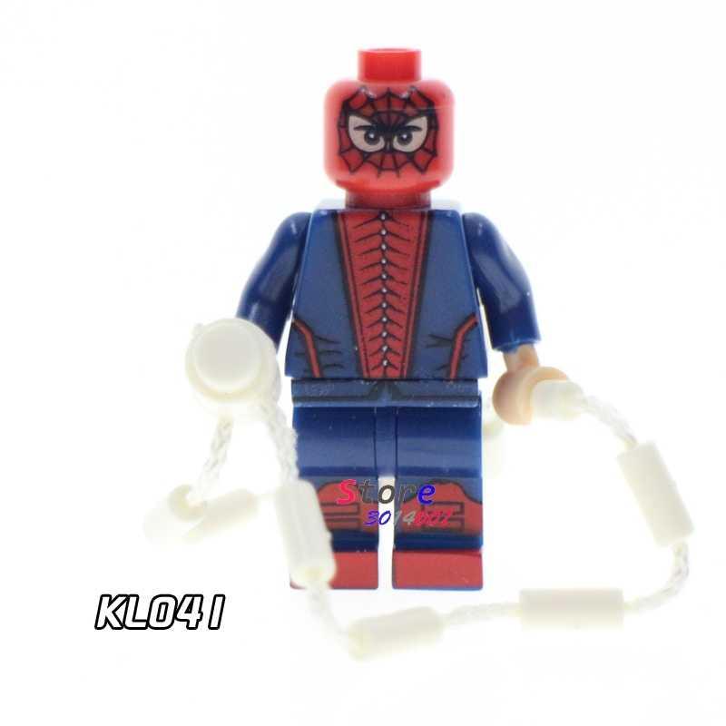 1 個モデルビルディングブロックアクションフィギュアスターウォーズスーパーヒーロースパイダーマンキットクラシック学習人形 diy のおもちゃギフト