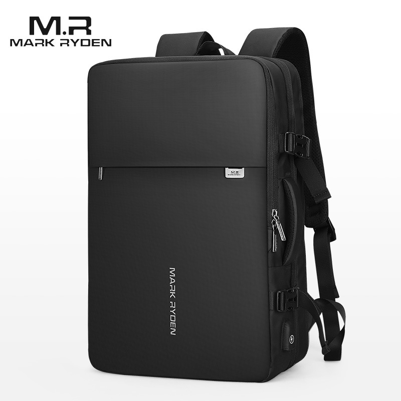 Mark Ryden Man Backpack Fit 17 Inch Laptop USB Charging Multi layer Space Travel Bag Business