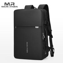 Mochila Mark Ryden para hombre, morral de viaje para ordenador portátil de 17 pulgadas, con carga USB, multicapa, antirrobo, para negocios