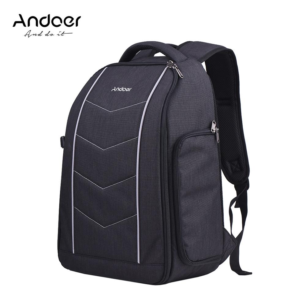 Andoer Professional Camera Backpack Bag for Canon Nikon Sony DSLR SLR Camera Lens Tripod Flash Accessories