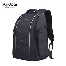 Andoer zaino per fotocamera professionale borsa per Canon Nikon Sony DSLR SLR obiettivo per fotocamera treppiede Flash accessori borsa zaino