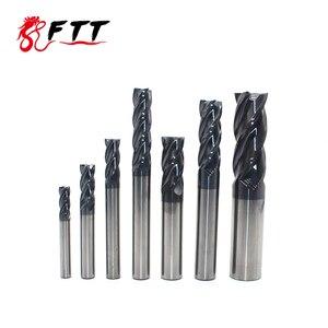 Image 3 - Endmill molinillo de extremo de carburo HRC50, 4 flautas de 4mm, 5mm, 6mm, 8mm, 12mm, acero de tungsteno, cortador de fresado cnc, herramientas de molinillo de extremo