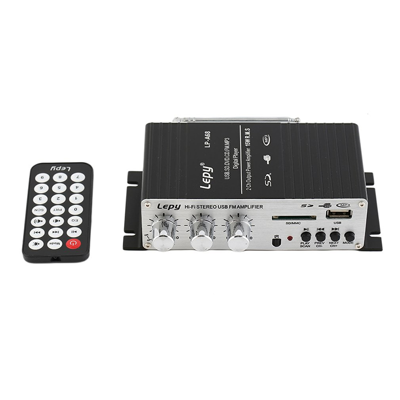 Kebidumeihi-Fi 12 В Цифровой Авто 2 канала MP3 аудио Усилители домашние звука аудио плеера с USB Порты и разъёмы DVD fm mmc и Дистанционное управление