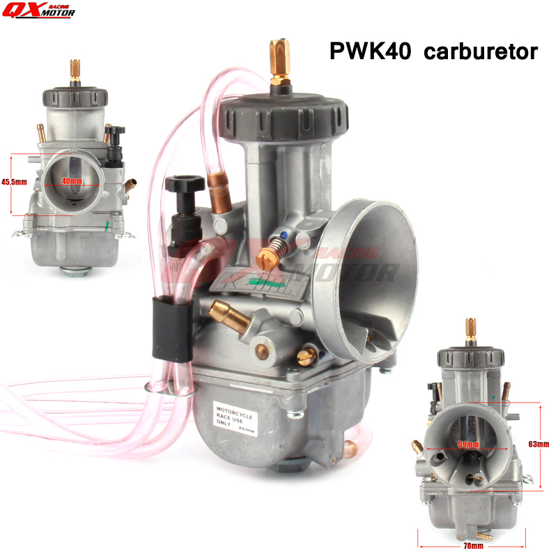 Universal Keihin PWK Carburetor 40mm Carb For 350 400 450 500cc Dirt Bike Off Road Motorcycle Scooter ATV Quad racing carburetor keihin pe28 28mm carb for atv quad 4 wheeler motocross motorcycle pit dirt motor bike scooter moped