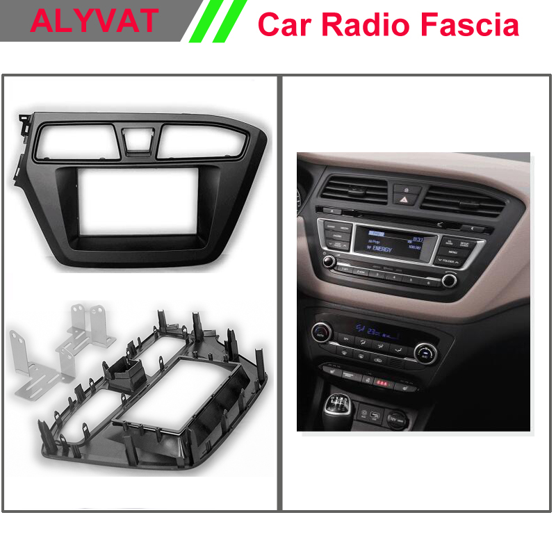 Afly Car Multimedia DVD GPS Store DOUBLE DIN Dash Radio Facia for 2014 2015 HYUNDAI i-20, i20 (Left Hand Drive) CD Panel Fascia Kit Fitting face Plate Frame