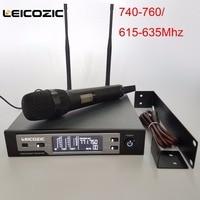 Leicozic SKM9100 Digital wireless microphone stage 615 655Mhz handheld wireless microfone professional microfono mic wireless