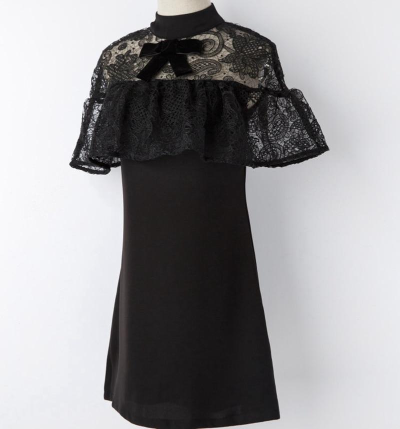 Piste Fête Arc Tenue Auto Élégante 2019 Robes Robe Noir Patchwork Portrait D'été Volants Femmes Femme Mini Pour Dentelle Designer De OHgqwIg