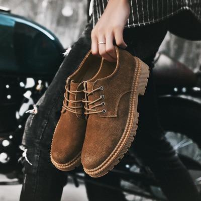 Dos Inglaterra Sólida Com brown 2018 Botas Sapatos De Camurça Tendência Cor Cinto Khaki Moda Retro Novos Juventude Ferramental Homens black SzqSI