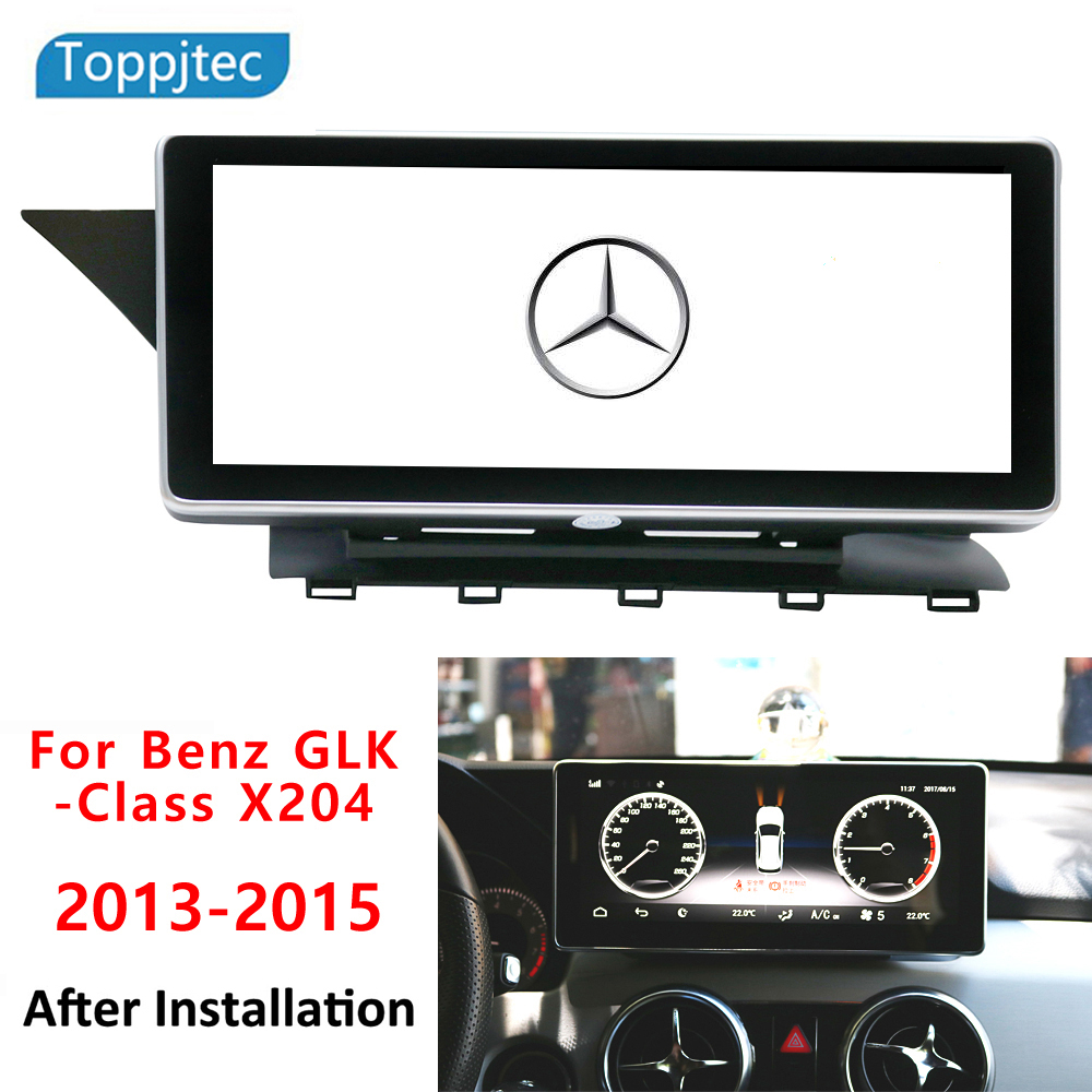 AUTOJIAPIN 10.25 Eight Core Android 8.0 2G RAM 1024*600 Car GPS navigation For Mercedes Benz GLK X204 2013 2015