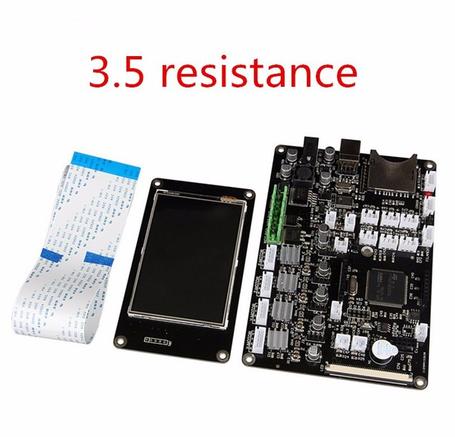 3d printer control panel Red rabbit motherboard 3d print main control board 3.5 inch touch screen Single head thermal resistance