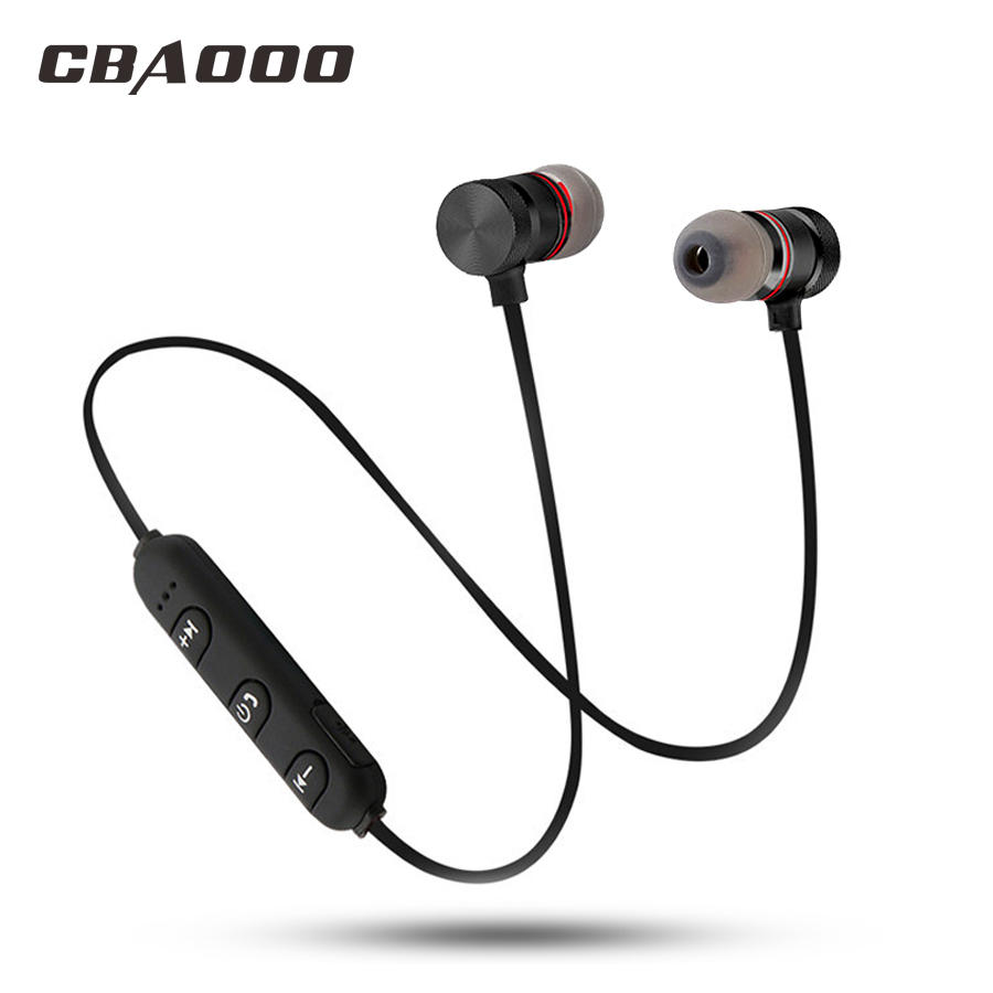 CBAOOO C40 Magnetic Wireless Bluetooth Earphone Sport Headset With Mic Hifi Stereo Bass blutooth earpods For Phone auriculares