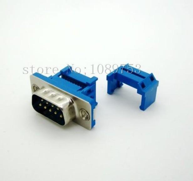 50Pcs Parallel Port D-SUB DB9 Male IDC Flat Ribbon Cable Connector 200 pcs fc 14p 14 pins male idc socket plug ribbon cable connector black free shipping