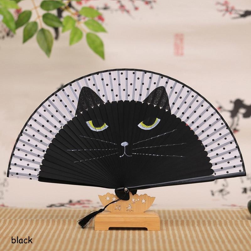 Kawaii Hand Folding Cat Fan