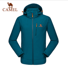 Camel Camping&Hiking Jacket Men 2016 New Autumn Winter Outdoor Men's Soft Sell Jackets Hooded A6W218115