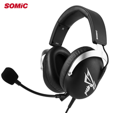 цены Somic G805 PS4 Gaming Headset 7.1 Virtual Casque 3.5mm Wired Stereo Earphones Headphones with Microphone for New Xbox One Laptop