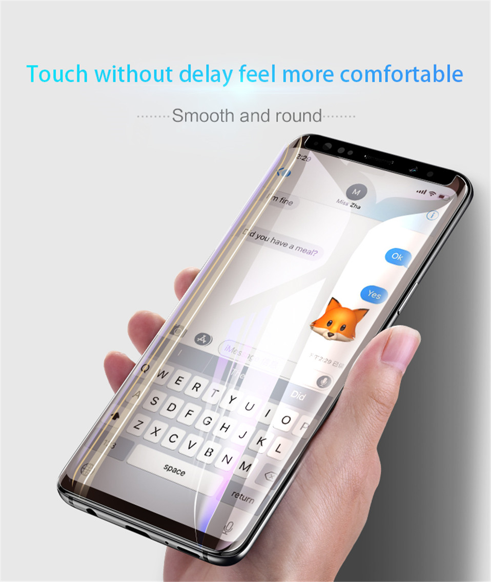 2018 UV Glue Screen Protector For LG V30 V40 G7 Tempered Glass Full Cover 1 pc Bit Light in Phone Screen Protectors from Cellphones Telecommunications