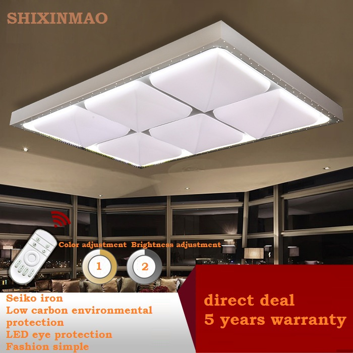 Rectangular square hardware acrylic led ceiling light living rectangular square hardware acrylic led ceiling light living room bedroom study lighting commercial led ceiling lamp 110 240v mozeypictures Choice Image