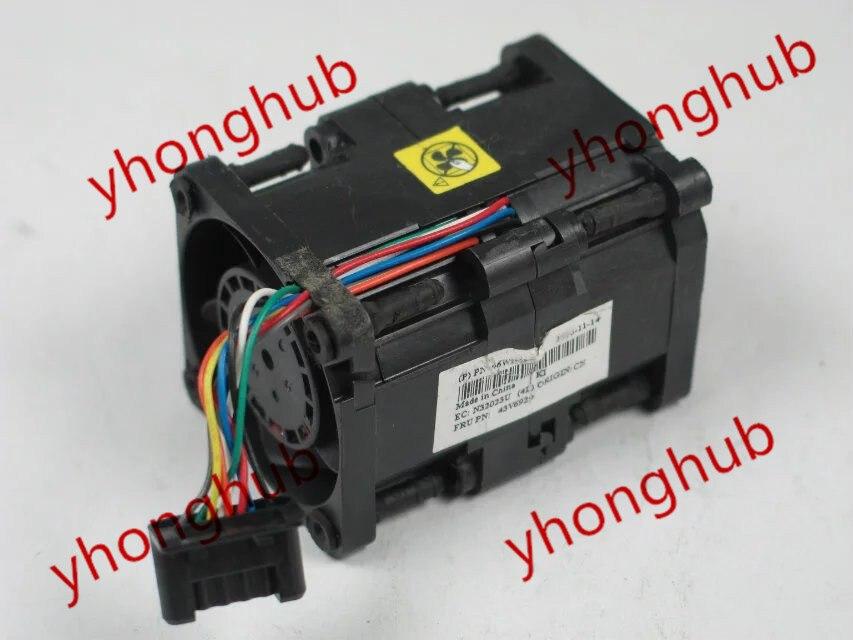 Nidec R40W12BS2CA-57A05, 43V6928, 43V6929 DC 12V 0.84A, 40x40x56mm 8-Wire, 6-Pin Connector Server Square fan free shipping for papst 4414 fn 2n dc 24v 8 3w 3 wire 3 pin connector 120x120x25mm server square fan