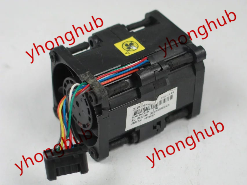 Free shipping For Nidec R40W12BS2CA-57A05, 43V6928, 43V6929 DC 12V 0.84A, 40x40x56mm 8-Wire, 6-Pin Connector Server Square fan free shipping for nidec r40w12bs2ca 57a05 43v6928 43v6929 dc 12v 0 84a 40x40x56mm 8 wire 6 pin connector server square fan