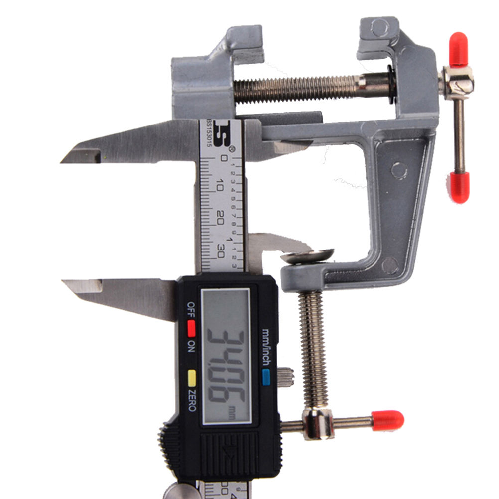 3.5 New Aluminum Miniature Small Jewelers Hobby Clamp On Table Bench Vise Mini Tool Vice