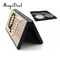 Magnetic Go Game Weiqi Chess Set With Single Convex Magnetic Plastic Stones Kids Educational Toy Goban Board Game Puzzle Toy