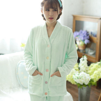 Winter Breastfeeding Maternity Pajamas Nursing Pregnancy Clothes Long Sleeve Flannel Casual Pregnant Clothes Winter 70M0136
