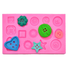 Button shape Silicone Cake Baking Mold Tools Decorating Candy Chocolate SK033357