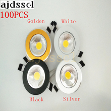 100PCS Super Bright Dimmable Led downlight light COB CeilingSpot Light 3w 5w 7w 12w ceiling recessed Lights Indoor Lighting