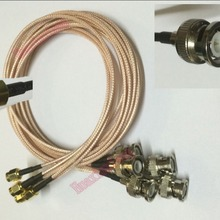 5PCS/Lot BNC Male To SMA Male Pug Coaxial Extension Pigtal Cable Connec