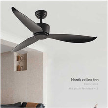 Nordic ceiling fan luxury restaurant home ceiling fan American-style simple household ceiling fan without light AC 220V 56 inch(China)