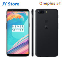 Oneplus smartphone 5t, telefone celular, 8gb, 128gb rom, 18:9 exibidor, snapdragon 835, tela 6,01