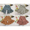 Korean Girl Clothings Kids Girl Pants Linen Clothings Baby Kids Clothes