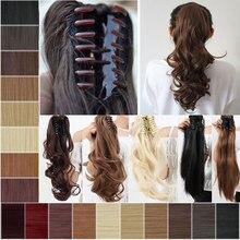 дешево✲  Soloowigs Bouncy Искусственные парики средней длины коготь в хвостики 8 цветов на выбор