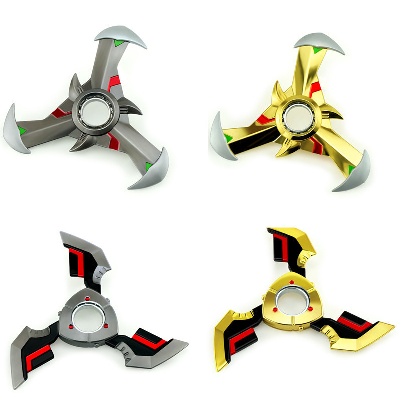 NEW 4Styles Ninja rotating darts OW 10cm Metal genji darts weapon toy model A favorite of gamers Collection decortion cosplay cool game genji darts alloy metal weapon rotatable darts cosplay props for collection fidget spinner hand anti stress kf028