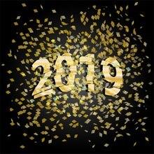 Laeacco Feliz Ano Novo 2019 Sucata Criança Portarit Backdrops Para Estúdio de Fotografia Fotografia Fundos Fotográficos Personalizados