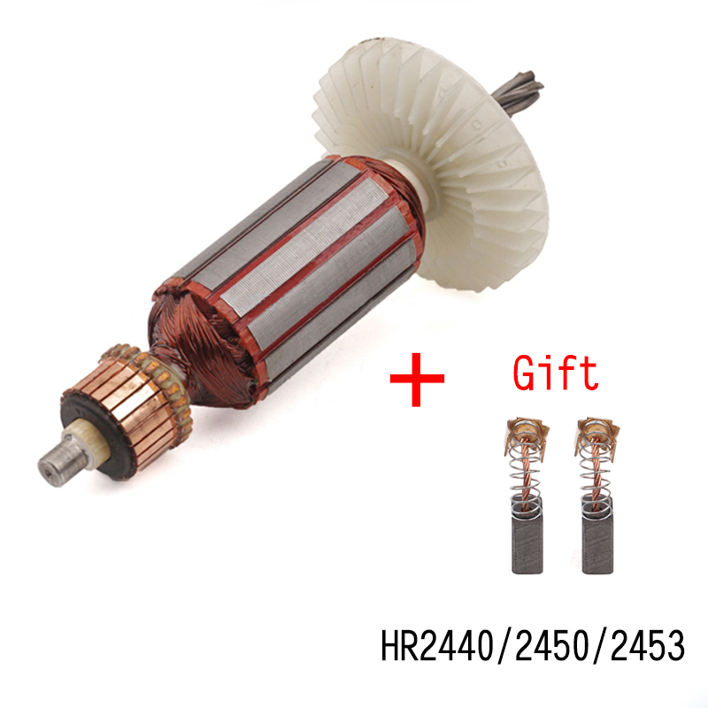 Replacement AC220V-240V 5 teeth Hammer drill Armature Rotor for MAKITA HR2440 HR2440F HR2450 HR2450F HR2453,High-quality!