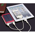 Actual Full Capacity 10000mAh Dual USB Portable Solar Battery Charger Power Bank For Apple HTC LG Nokia Xiaomi VA558 T0.41