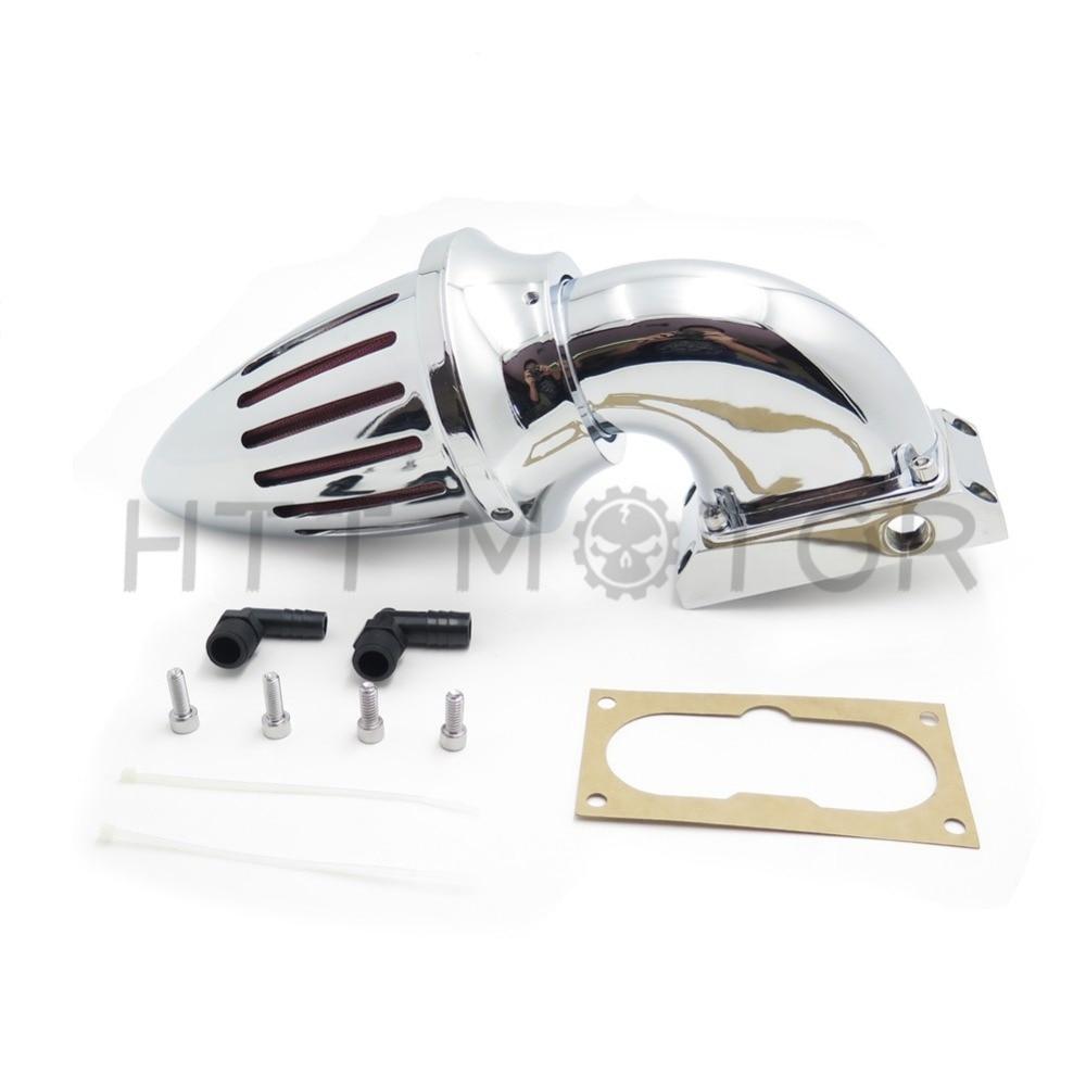 Aftermarket free shipping motorcycle parts kawasaki vulcan 2000 classic lt chrome air cleaner kits intake filter