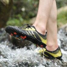 TIOSEBON Unisex Sneakers Water Shoes Men Barefoot Outdoor Beach Five Fingers Breathable Anti-Slip Soft Quick Dry Footwear