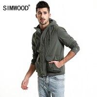 SIMWOOD 2019 Spring Jacket Men Fashion Slim Fit Casual Coats High Quality Windbreaker Plus Size Brand Hooded Jacket 180068