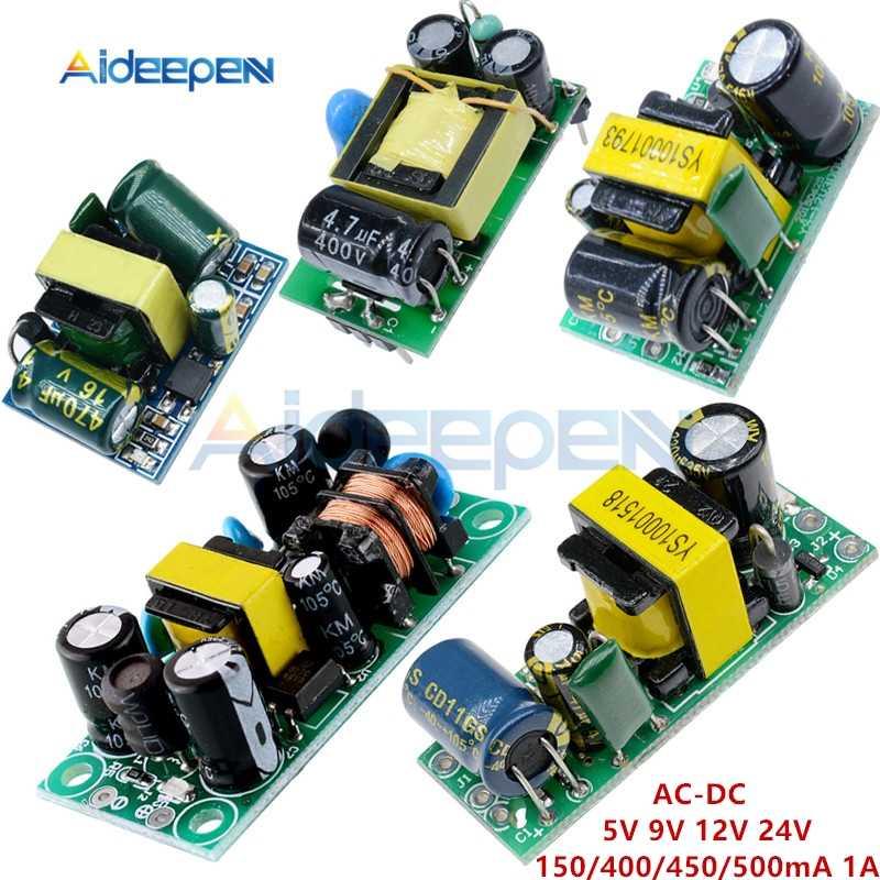 AC-DC 5V 9V 12V 24V 150/400/450/500mA 1A adım aşağı Buck modülü AC 85 V-265 V için 5V 9V 12V 24V Buck dönüştürücü trafo