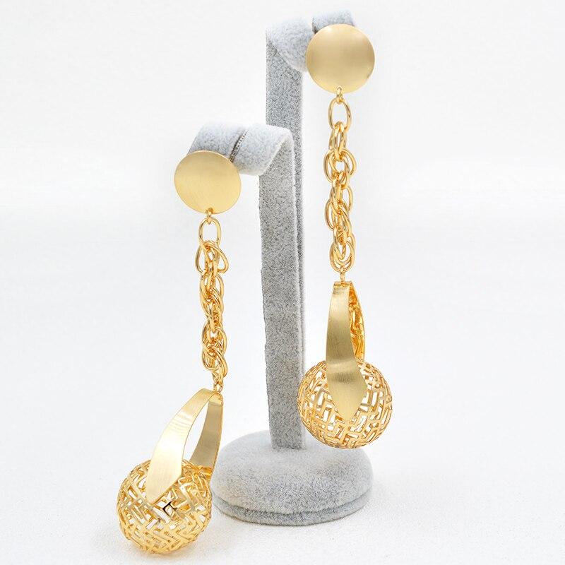ZEADear Jewelry Exquisite Jewelry For Women Gift Long Drop Dangle Earrings Big Ball Earrings Statement Fashion Wedding Earrings